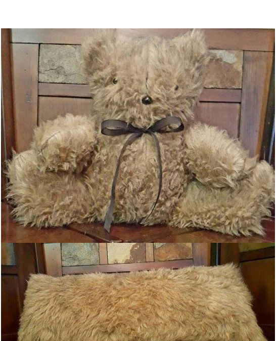 faux fur teddy bear