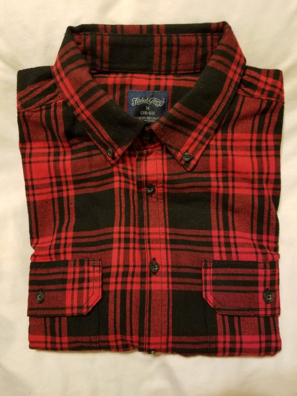 red black flannel